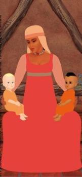 jenane com 2 crianças